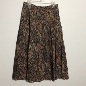 Burberry • Vintage Paisley Midi Skirt
